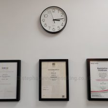 Wall certificates with clock