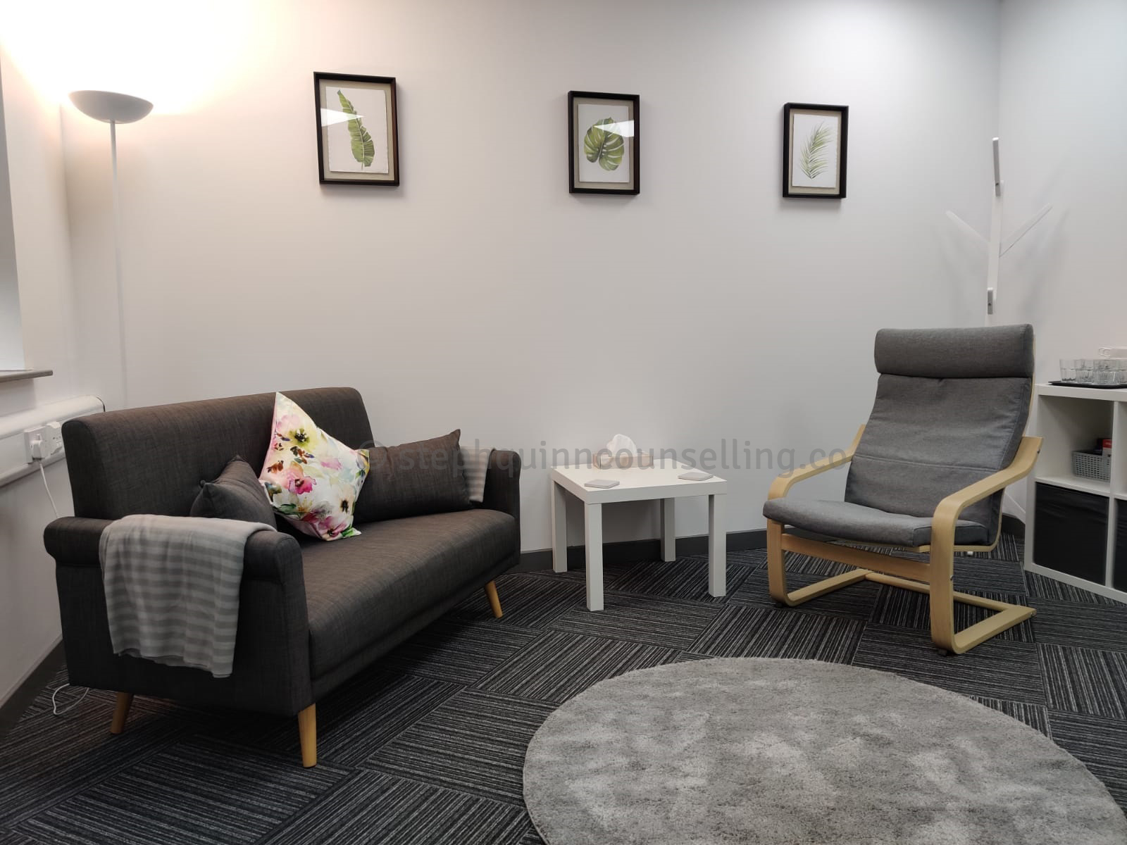 Steph Quinn Counselling room setup