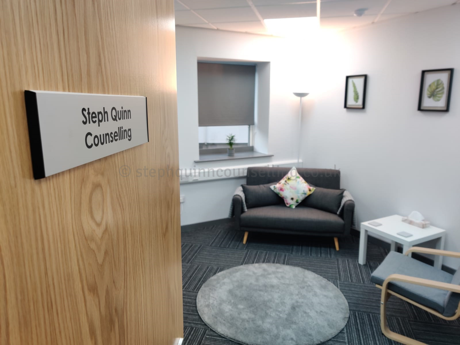 view into counselling room